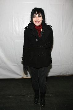 Joan Jett Photos Photos - Joan Jett poses in the W VIP lounge during Mercedes Benz Fashion Week in Bryant Park February 6, 2007 in New York City. - W Lounge At Mercedes Benz Fashion Week