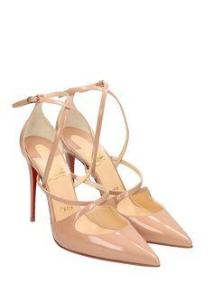 Christian Louboutin - Christian Louboutin Crossfliketa Pumps - powder, Women's High-heeled shoes | Italist