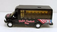 """5"""" New Diecast Toy Model Tour Airport Shuttle Bus Sightseeing Black #130"""