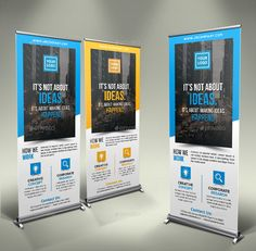 Buy Business Roll Up Banner by GeniusPoint on GraphicRiver. Features: Easy Customizable and Editable Size in with bleed CMYK Color Design in 150 DPI Resolution P. Magazine Fonts, Roll Up Design, Beauty Packaging, Typography Fonts, Custom Logos, Banner Design, Presentation Templates, Flyers, Banners