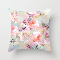 Throw Pillows featuring Love of a Flower by Girly Trend