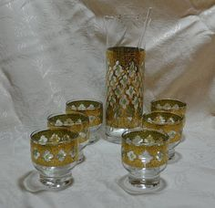 Your place to buy and sell all things handmade Martini Set, Stir Sticks, Green Diamond, Shot Glasses, Mad Men, Valencia, Barware, Mid Century, Rock