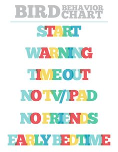 Printable Children's Behavior Discipline by frommewithlovedesign