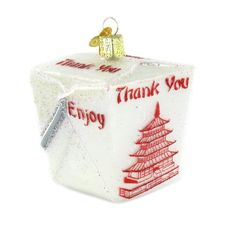 Old World Christmas Chinese Take-Out Ornament. #Christmas #NewYear #Ornament #Decor #giftidea #Gift #gosstudio .★ We recommend Gift Shop: http://www.zazzle.com/vintagestylestudio ★