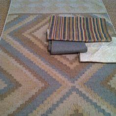 Sunroom fabrics and rug