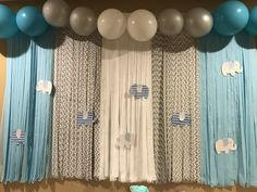 Beautiful Backdrop For A Boy Baby Shower All Of The