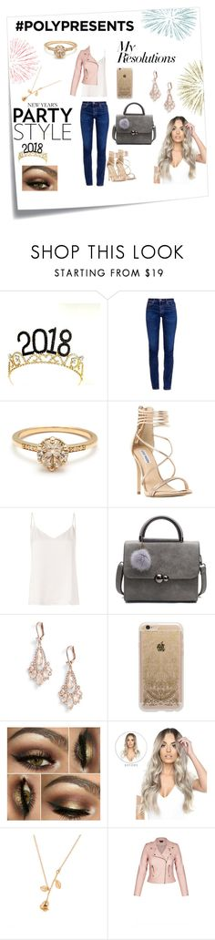 """#PolyPresents: New Year's Resolutions"" by mcculleysadie ❤ liked on Polyvore featuring Post-It, AG Adriano Goldschmied, Steve Madden, L'Agence, Kate Spade, Rifle Paper Co, contestentry and polyPresents"