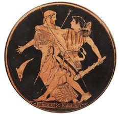 Ερυθρόμορφο πηνίο του Ζωγράφου του Πιστοξένου. Ο Ηρακλής με τον Νηρέα. 465 π.Χ. Εθνικό Αρχαιολογικό Μουσείο, Αθήνα. Archaeology, Wordpress, Personalized Items
