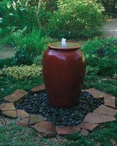 to Build a Pot Fountain - FineGardening Video: How to Build a Pot Fountain. /how-to/videos/build-container-fountain-water-pxVideo: How to Build a Pot Fountain. /how-to/videos/build-container-fountain-water-px Fine Gardening, Organic Gardening, Gardening Blogs, Gardening Supplies, Indoor Gardening, Container Gardening, Diy Water Feature, Backyard Water Feature, Large Backyard