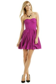 Rent Fuschia Pop Flirt Dress by Rebecca Taylor for $35 only at Rent the Runway.