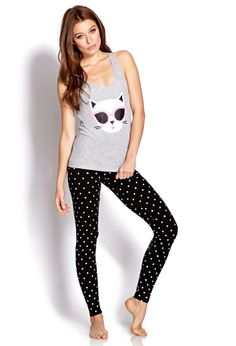 Cool Cats PJ Set | FOREVER21 All the cool cats are wearing them #Meow #Lounge…