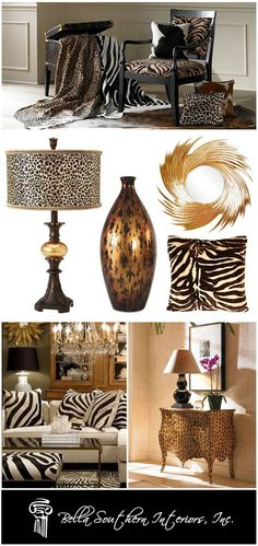 unique animal print designs | Interior Designers and Animal Prints: Taking a Walk on the Wild Side