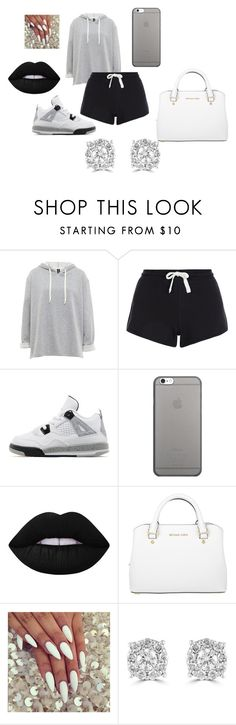 """""""yayyy;)"""" by maddicampbell on Polyvore featuring beauty, New Look, Jordan Brand, Native Union, Lime Crime, Michael Kors and Effy Jewelry"""