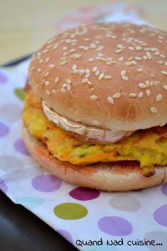 burgers aux galettes de légumes