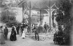 Bikes at Soda Spring ~ Manitou Springs Colo ~ 1880