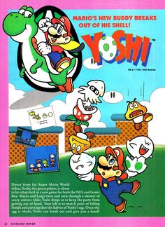 The first of a 4 page feature on #Yoshi the #Gameboy and #NES puzzler, this is from Nintendo Power Magazine Vol. 35 Click for the full feature @ http://www.superluigibros.com/yoshi-nintendo-power-vol-35