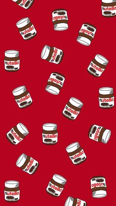 Jeder liebt Nutella iPhone Wallpaper iPhone 5 / 6 / PLUS SE Wallpaper . Cute Food Wallpaper, Handy Wallpaper, Iphone Wallpaper Vsco, Cute Patterns Wallpaper, Iphone Background Wallpaper, Aesthetic Pastel Wallpaper, New Wallpaper, Aesthetic Wallpapers, Iphone Wallpapers