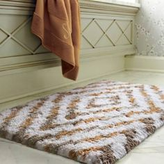 With our Greyton Ikat Bath Rug, soothing your soles in super-soft cotton yarns woven to 2,200 gsm is an experience you'll treasure each morning. This exclusive pattern, acquired through ikat dyeing, adds dynamic design to an extra-absorbent nonskid rug.1-1/4 thick matMade of 100% cotton yarnsDistinctive design offers a fresh look in bath rugsPreshrunk with special softener for superior hand feelCotton bath rugs acquire a more lush texture with every washOffered in numerous colors to match…