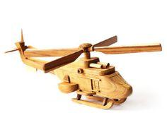 Helicóptero de juguete de madera 01 en hecho a por MoreThanWoodShop