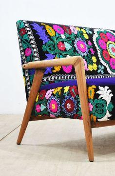 Suzani Vintage Sofa | Name Design Studio on Etsy