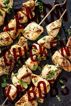 These Grilled Lemon Chicken Kabobs are a fun addition to your barbecue dinner. They're delicious and so easy to make! Chicken is marinated in sour lemon and savory herbs, then skewered and grilled to perfection. Grilling Recipes, Cooking Recipes, Grilled Lemon Chicken, Savory Herb, Vegetarian Recipes, Healthy Recipes, Chicken Kabobs, Picnic Foods, Healthy Side Dishes
