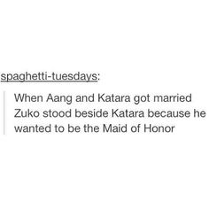 Zuko honor jokes never get old. I can't even. I'm so done you guys.