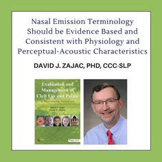 Nasal Emission Terminology Should be Evidence Based and Consistent with Physiology and Perceptual-Acoustic Characteristics Speech Language Pathology, Speech And Language, Cleft Lip, Physiology, Speech Therapy, Exhibit, Speakers, Read More, Acoustic