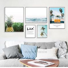Living Room Scandinavian Cactus - Pineapple Landscape Painting Posters And Prints Home Decoration Nordic Poster Wall Pictures For Living Room Wall Art Unframed.