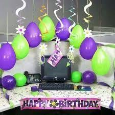 Resultado de imagen para decorar puesto de trabajo de cumpleaños