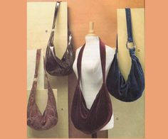 Hobo Slouch Bag Shoulder Bag Tote Sling by allthepreciousthings, $18.00