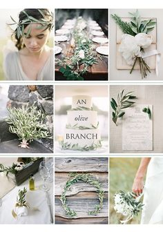 Definitely want to incorporate olive branches into the decor.