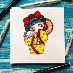 "Милота #kokeshi и #monekineko последнее задание ""Традиции и символы"" для марафона #japan_ac от #aquarelle_cafe и спонсоров @aquarelle_cafe @maxgoodz @sketchmarkersclub #sketchmarker #sketchtattoos #oriental #youkai #tattooart #japan #traditionaltattoo #sketch #sketchbook Kokeshi Tattoo, Lucky Cat Tattoo, Doll Japan, Japanese Toys, Memorial Tattoos, Japanese Sleeve, Tattoo Illustration, Maneki Neko, Kokeshi Dolls"