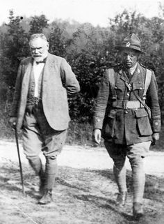 Thomas Mackenzie, [GCMG was a Scottish-born New Zealand politician and explorer who briefly served as the 18th Prime Minister of New Zealand in 1912] the New Zealand High Commissioner in London, and Peter Buck (on the right) visit New Zealand troops in France during the First World War. | NZHistory, New Zealand history online