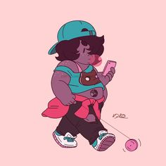 "Fanart of Smoky Quartz from the Cartoon Network show, ""Steven Universe"". Created by Rebecca Sugar."