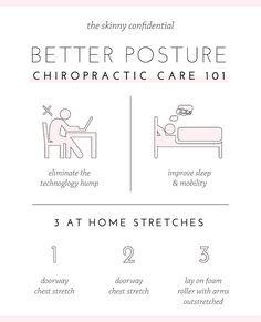 If you're ready for the ultimate prevention let's talk about your posture. Avoid a gnarly dowagers hump by implementing a few easy stretches & care. Better Posture Exercises, Scoliosis Exercises, Chiropractic Benefits, Chiropractic Care, How To Get Better, How To Get Rid, The Skinny Confidential, Chiropractic Adjustment, Easy Stretches