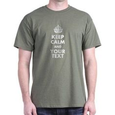CafePress Personalized Keep Calm T-Shirt, Men's, Size: 3XL, Green