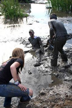 Oh mud fights at the creek are sooo much fun!! :)