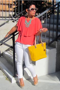 "Forever 21 Jeans, Michael Kors Bags, Wild Pair Pumps, Forever 21 Necklaces | ""Feeling Breezy!"" by mimig - Chictopia"