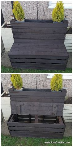 pallet bench and planter