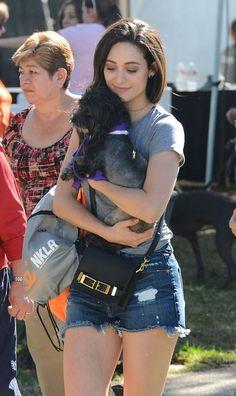 Emmy Rossum – Adopting a dog at the NKLA Adoption Event in LA