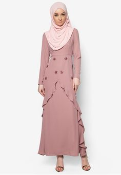 Sequin Mermaid Maxi Dress from POPLOOK Premium for Zalora in pink_1