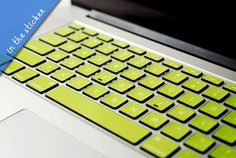 Macbook keyboard decal in my favorite color! Could coordinate color to your office - or whatever makes you happy!