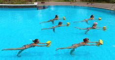 Moving your aerobics routine into the water provides the toning and cardiovascular benefits of exercise on dry land with less strain and stress on your...
