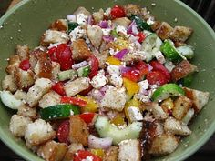 Ina Garten's Greek panzenella salad. Awesome