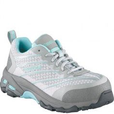 RB421 Reebok Women's Exline Safety Shoes - Grey/Teal www.bootbay.com