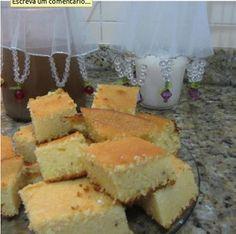 KEFIR - Alimento Probiótico : Bolo de Fubá com Kefir Kefir Probiotic, Sweet Corn Cakes, Lactose Free, Cornbread, Sweet Recipes, Yogurt, Paleo, Cheese, Ethnic Recipes