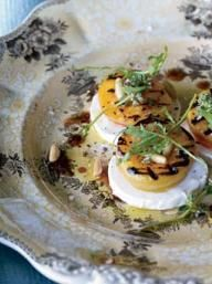 Grilled Apricot, Arugula and Goat Cheese Salad | KitchenDaily.com