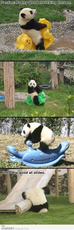 Pandas are good at rocking horses