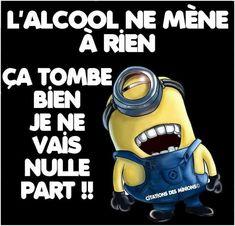 L'#alcool ne mène à #rien , ça #tombe #bien je ne vais #nulle part ! #blague #humour #rire #blagues #mdr #lol #drôle