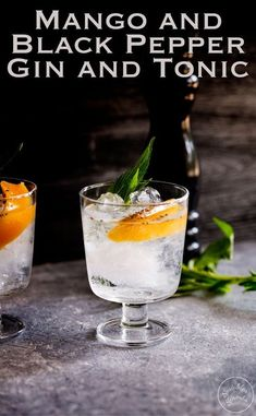 This Mango and Black Pepper Gin and Tonic is a deliciously different way to enjoy the classic G&T. The sweet mango and fiery black pepper sing together and make this a drink to remember. From Sprinkles and Sprouts